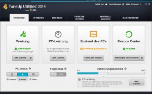 TuneUp Utilities 2014_Dashboard