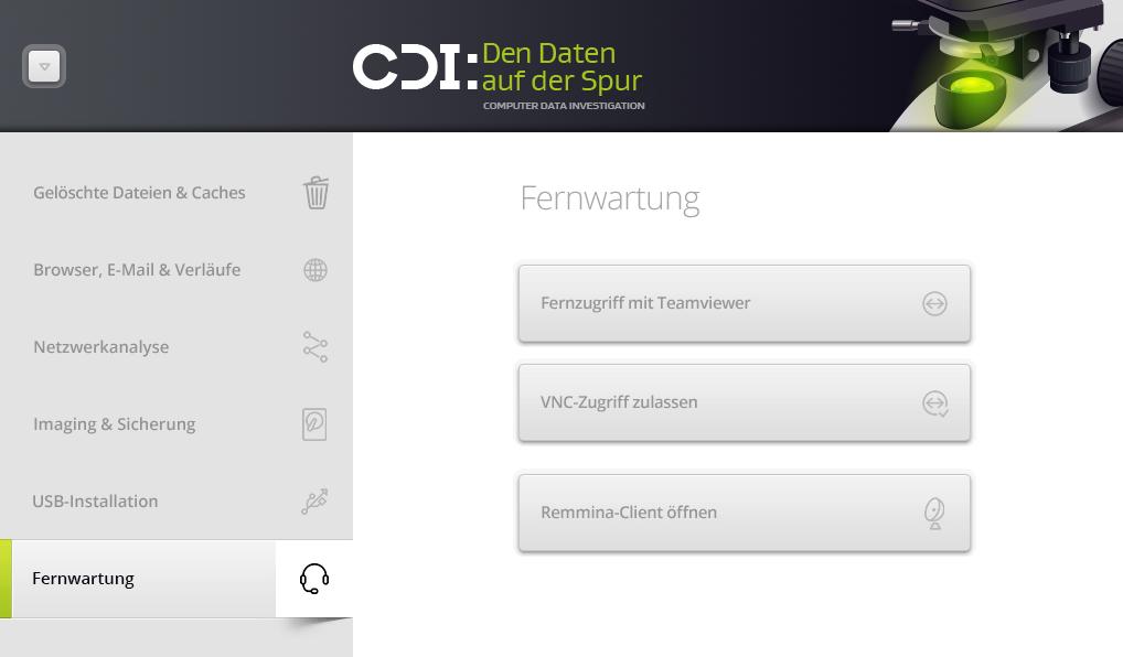 CDI - den Daten auf der Spur_Fernwartung