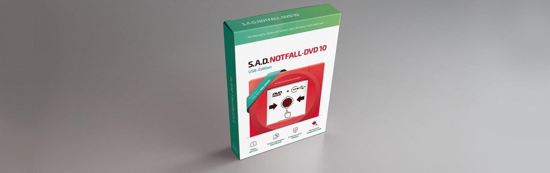 Notfall-DVD 10 mit Datenrettungs-USB-Stick