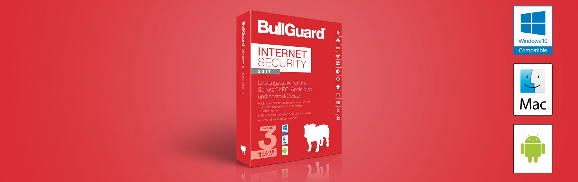BullGuard Internet Security 2017 (für PC, Mac und Android)